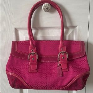 Coach Pink Fuchsia Satchel Purse Handbag